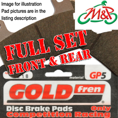 YZF R1 2000 Full Set GP-5 Disc Brake Pads 5JJ1 5JJ8 1000cc