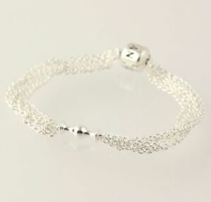 Fine Jewellery Sterling Silver Bracelet With 17 Sterling Silver Charms