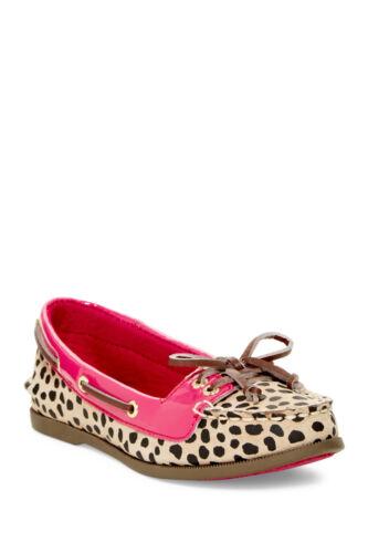 Sperry Top-Sider Audrey Girls Leather Boat Shoe Leopard//Pink Kids YG50770