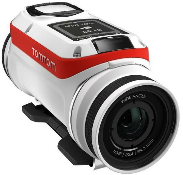 TomTom Bandit Base Pack Action Cam4K 16MP UltraHD WLAN Cámara impermeable blanca