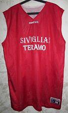 RARE MAGLIA SHIRT JERSEY BASKET BASKETBALL TERAMO ITALY MATCH SIZE 3XL DOUBLE