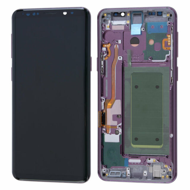 LCD Display Touch Screen Digitizer + Frame For Samsung Galaxy S9 Plus OEM Purple