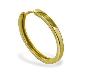 ECHT GOLD *** Herren Single-Creole Ohrring bicolor diamantiert 15 mm