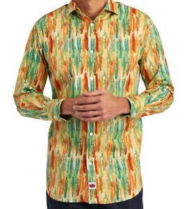 Jerry-Garcia-Mens-L-S-Shirt-Abstract-Multi-Print-Size-XXL-Stretch-NWT