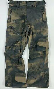Volcom L Gore-Tex Mens Snowboard Ski Pants Snow Trousers Salopettes Camo RRP£250