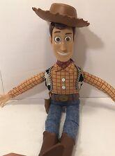 Disney Pixar Thinkway Toy Story Cowboy Woody Talking Doll W/ Hat TESTED
