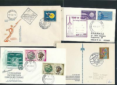 Weltraum Space Raketen Cds / Covers / Fdc 196x 4 Diff Ernst 01814 Years 195x