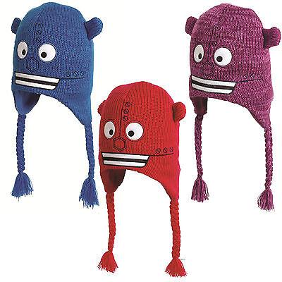 Affidabile Nuovo,per Bambini/e Robot Scalda Orecchie In Pile Cappello Taglia Unica Rosso Limpid In Sight