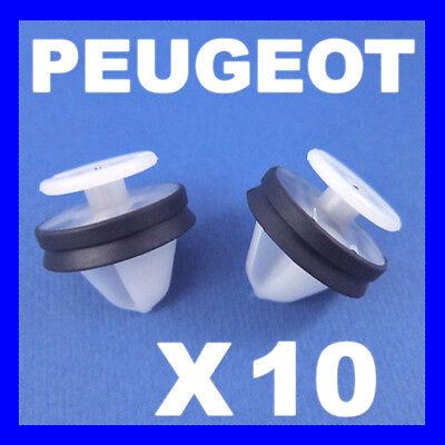 10x Clips For Renault Fiat Peugeot Door Seal Rocker Socket Plastic 7703081019