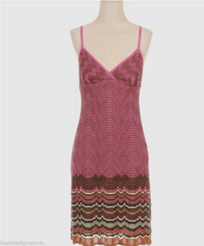M MISSONI Wave Stripe Knit Dress NWT 100%Auth Size 42 6