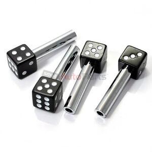 4 Custom Black Dice Interior Door Lock Knobs Pins for Car-Truck ...