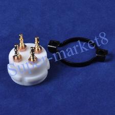 4pc Gold Pin Teflon 4Pin 300B 2A3 101 45 274A 811 801 Tube Valve Socket Amp Part