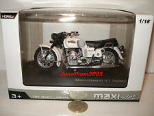 NOREV MOTO MOTOGUZZI V7 SPECIAL BLANCHE 1971 au 1/18°