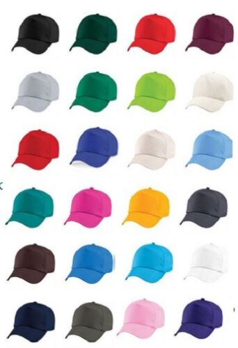 Boys Girls Childs Childrens Kids Baseball Cap Red Yellow Blue Green Orange Pink