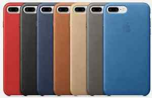 new york 977ef 221b0 Details about ORIGINAL APPLE iPhone 7 PLUS Genuine Leather Case, ALL  COLORS, 7+ OEM, NEW