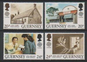 Guernsey-1990-Europa-Post-Buero-Gebaeude-Set-MNH-Sg-486-9