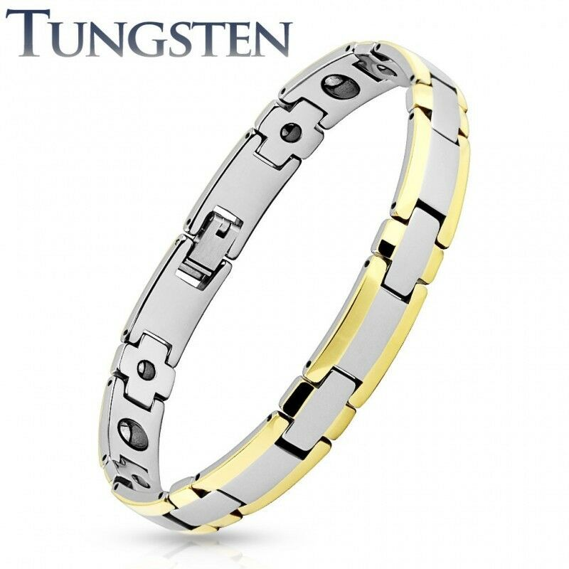 Man bracelet tungsten borders golden