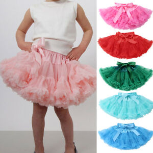 0dcac309b2 AU Kids Girl's Princess Layer Fluffy Tutu Skirt Pettiskirt Party ...