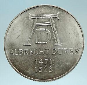 1971-D-GERMANY-w-ALBRECHT-DURER-Artist-Genuine-Antique-Silver-German-Coin-i76205