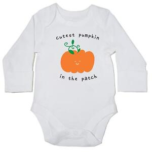 Cutest-ZUCCA-nella-Patch-Baby-Body-manica-lunga-Ragazzi-Ragazze