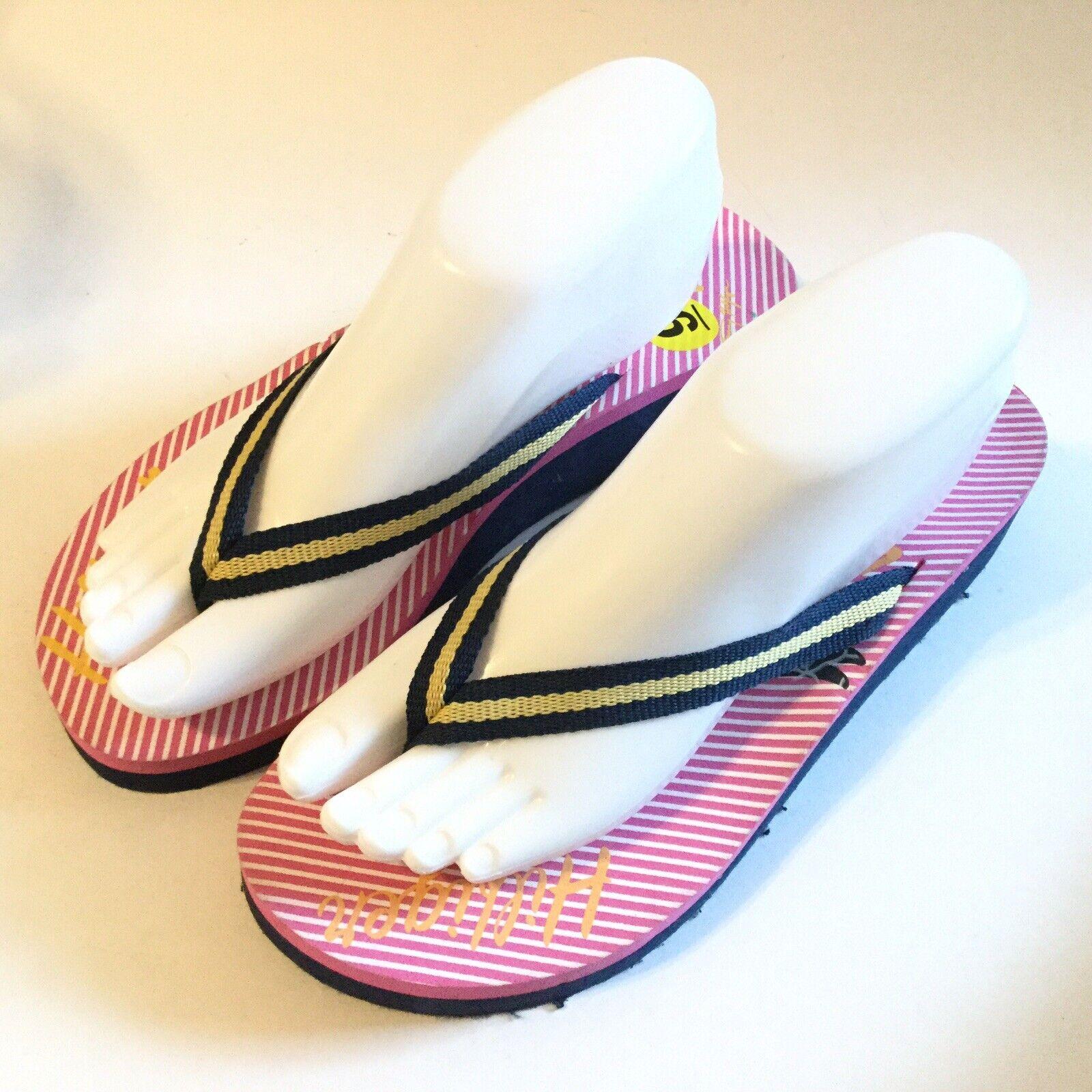 Tommy Hilfiger Women Size 9 Flip Flop Pink Navy S… - image 4