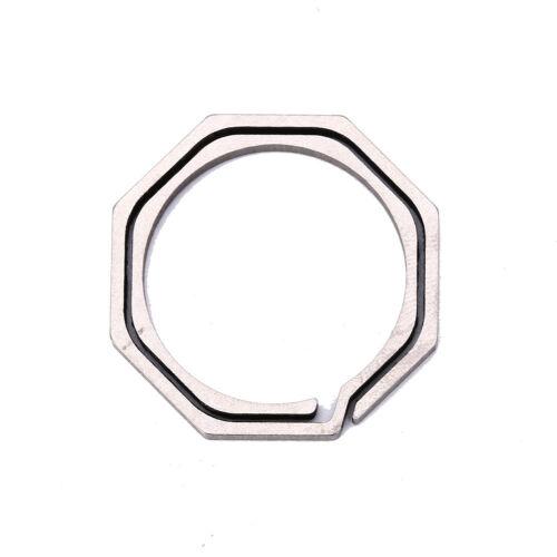 Keyring Octagon Titanium Hook outdoor clip kit Buckle Keychain edc multi tool SE