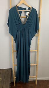 Mr-amp-Mrs-Wardrobe-Viscose-Bali-Dress-One-Size-Check-Measurements-Dark-Green-LY