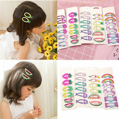 6pcs//set Cute Hair Clips Snaps Hairpin Girls Baby Kids Hair Bow Accessories Gift