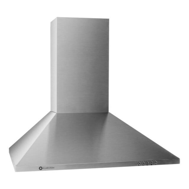Klarstein Cappa Aspirante da cucina acciaio inox a parete 60cm 3 ...