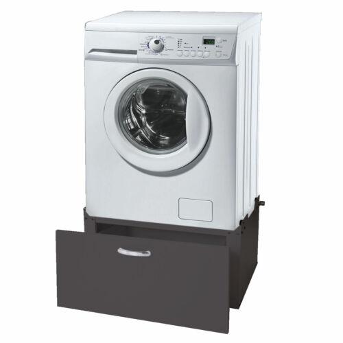 Podest Untergestell 33x61x52cm schwarz Waschmaschinenunterschrank MCW-E50
