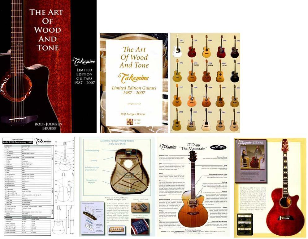 BOOK TAKAMINE GUITAR Art of Wood LTD GUITARE LIVRE 1ST EDITION 2007 COLLECTOR