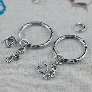 100X Key chains Key Split Rings 4 Link Chain 55mm - <span itemprop=availableAtOrFrom>UK, United Kingdom</span> - Returns accepted - UK, United Kingdom