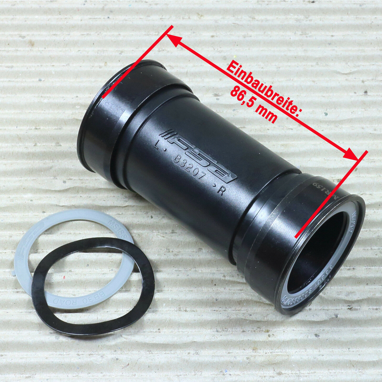 FSA BB86/386EVO Innenlager Road Adapter - 41-86,5 - Achs Ø 30 mm - CrMo-Lager