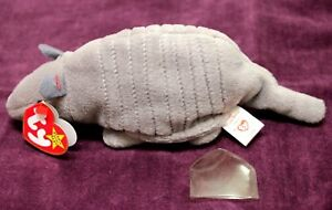 TY BEANIE BABIES--TANK THE ARMADILLO--MINT CONDITION--1995 PVC RETIRED-- PLUSH