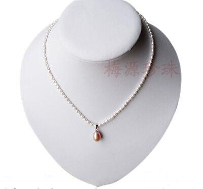 Armband Set Echte kultivierte Mini 3-3,5mm weiße Süßwasser Perlenkette