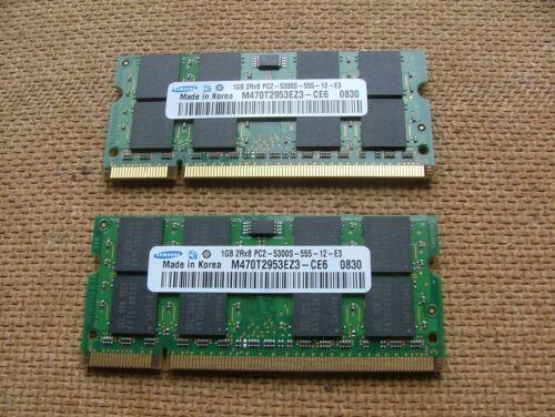 2 STICKS OF 1GB PC2-5300S Laptop Memory Ram 2G Total