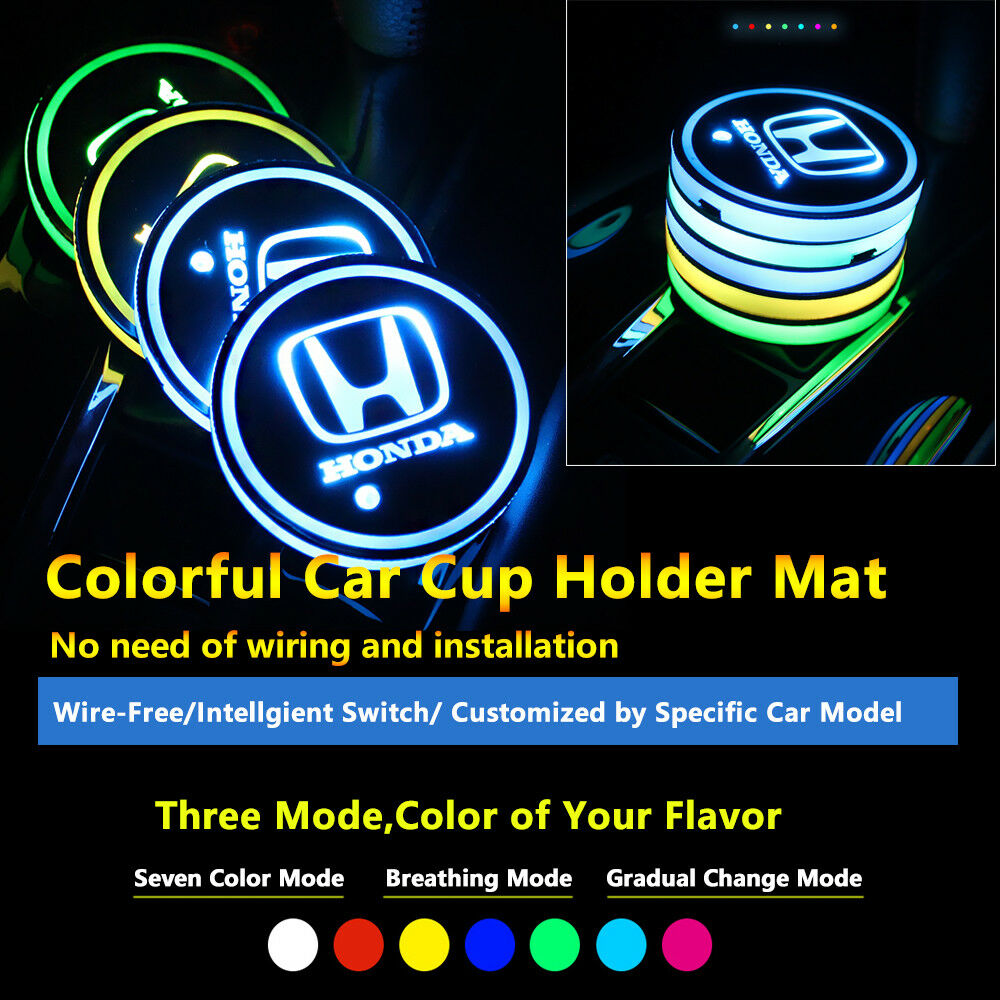 Neon Light Bulbs >> Details About 2pcs Colorful Led Coaster Atmosphere Car Parts Light Bulbs For Honda Neon Lights