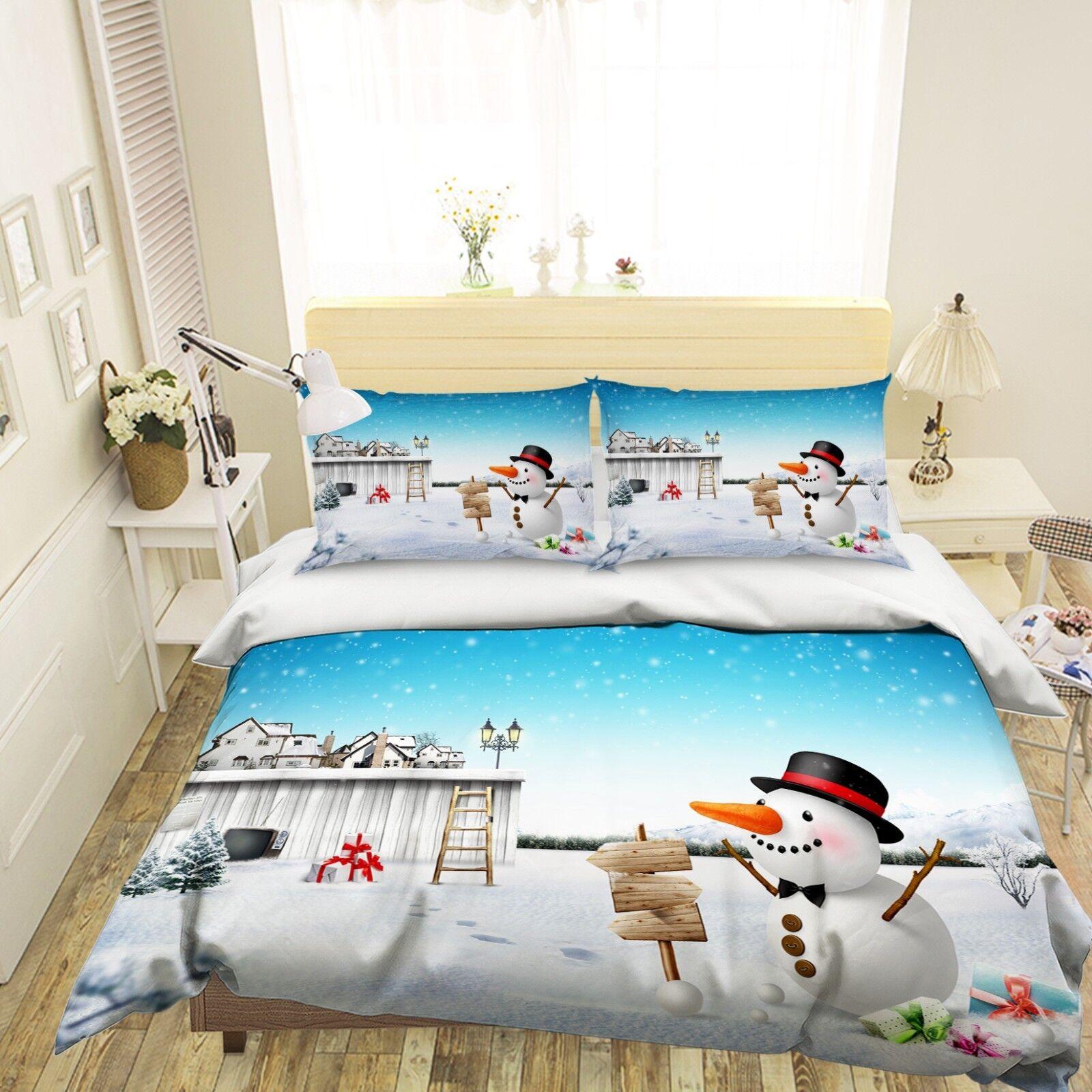 3D Christmas Xmas 539 Bett Pillowcases Quilt Duvet Startseite Set Single Königin König AU