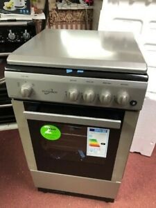 LPG READY! 50x50cm depth BATTERY IGNITION gas cooker FSD Silver with LID