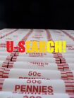 Bank Wrapped Rolls of Wheat Pennies - Unsearched Cents! 1909 VDB Found!