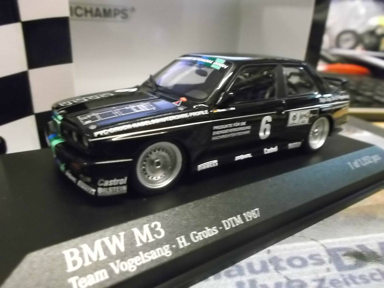 BMW m3 e30 DTM  6 Harald capezzoli Grohs Team uccelli Sang 1987 Minichamps 1 43