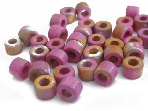100 cerámica perlas facetada 6x4mm rosa made in UE spacer nenad-Design g40 Aprox