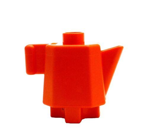 Lego Duplo Wasserkocher Teekanne in orange Kaffekanne Kanne Geschirr Puppenhaus