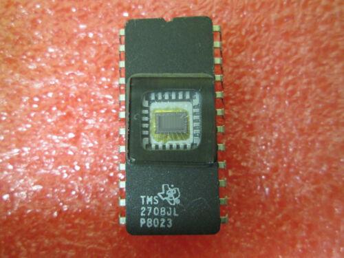2 PSC  EPROM 2708  TMS 2708 JL   24 PIN DIP 1KX8  CERAMIC  IC  VINTAGE