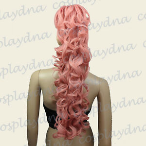 24-inch-Heat-Milkshake-Pink-Clipon-ringlet-Curl-Cosplay-DNA-Ponytail-2KPN