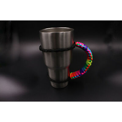 New Rainbow color 550 paracord Rope Portable Water Bottle Cup Handle sets