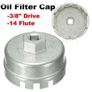 Image Is Loading 14 Flutes 64mm Oil Filter Cap Wrench Remover