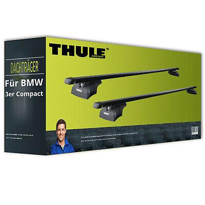 Stahl Dachträger EBA für BMW 3er Compact Typ E46 NEU inkl Thule SquareBar
