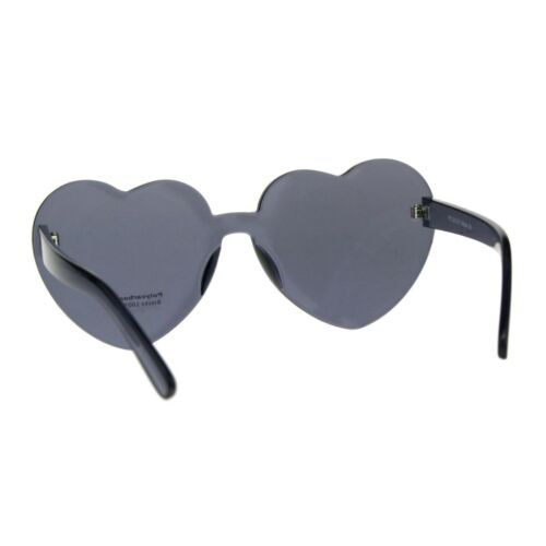 Monoblock Heart Shape Sunglasses Womens Fashion Shades UV 400