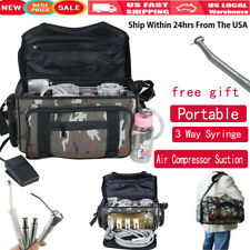Portable Dental Turbine Unit Air Compressor Suction 3 Way Syringe Scaler Bag Fda